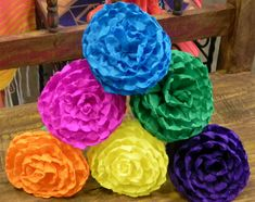 Mexican paper flowers are a very popular craft made to decorate mexican paper flowers set of 6 multicolor we make special orders mightylinksfo
