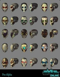 Exile Online Mechanimus head and face variations