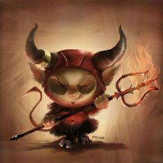 Teemo-Satan by Siranis @deviantart http://siranis.deviantart.com/gallery/50882379/LoL-Fan-art