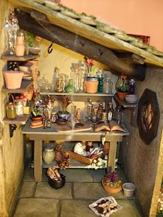 My first solo project bought for me by my Mum in October 2008 and before I was b… My first … Haunted Dollhouse, Haunted Dolls, Diy Dollhouse, Dollhouse Furniture, Witch Cottage, Witch House, Miniature Houses, Miniature Dolls, Mini Houses