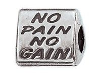Zable(tm) Sterling Silver Gym Rat Bead / Charm Style number BZ2106