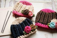 Crochet Hat Pattern Baby Girl Crochet Hat Pattern by rubywebbs