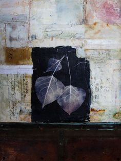 Bridgette Mills: The Light of Our Own Nature encaustic mixed media 16x12 inches