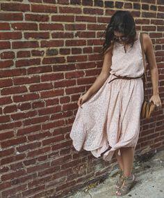 Affordable Fashion Blog // Blush Boho Dress// Click to shop