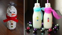 Handmade christmas crafts - 15 ways to recycle glass bottles