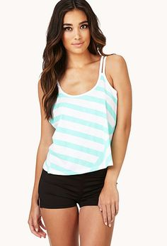 Striped Cutout Workout Tank | FOREVER21 - 2000052054
