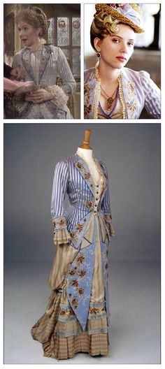 """This beautiful Victorian gown has been used in """"The Pallisers"""" and then again on Scarlett Johansson in """"The Illusionist.""""  #TheIllusionist #ScarlettJohansson #ThePallisers #SusanHampshire"""