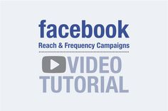 Facebook Reach and Frequency Campaigns are here! Advertisers have been waiting a long time for this along time andFacebook now finally allows the regulation of ad frequency.The social network gi…