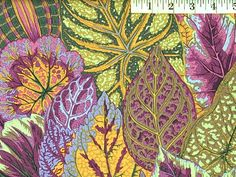 Lavender Coleus from Glorious Color Striped Upholstery Fabric, Quilt Material, Japanese Textiles, Quilt Kits, Fabulous Fabrics, Applique Patterns, Snow Leopard, Cotton Quilts, Lavender