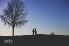 older couple lifestyle photography session. sunset silhouettes. #inlove #couples