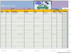 Mileage log tracker business printable direct sales organizer mileage log tracker business printable direct sales organizer chevron editable pdf template kilometre tracker 7 colours instant download direct sales wajeb Images