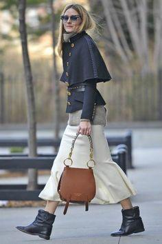 Olivia Palermo wearing Isabel Marant Etoile Cluster Leather Concealed Wedge Ankle Boots, Fendi Fashion Show Galassia Marble Cat Eye Sunglasses, Olivia Palermo   Chelsea28 Open Back Wool