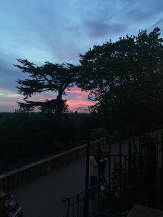 A framed sunset.