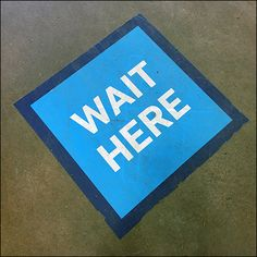 CoronaVirus Social Distancing Wait-Here Blue Floor Graphic Floor Graphics, Blue Floor, Store Fixtures, Cold Remedies, Home Depot, Waiting, Retail, Flooring, Color