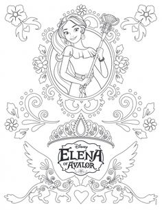 Printable Elena of Avalor magical flying Jaquin coloring