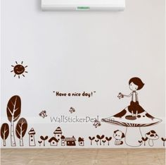 Fairy Tales Mushrooms Tree Wall Sticker