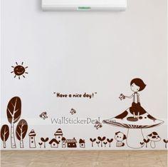 A Autumn's tale Tree Wall Sticker Kids Wall Decals, Wall Sticker, Autumn Tale, Tree Wall, Fairy Tales, Stuffed Mushrooms, Stickers, Stuff Mushrooms, Fairytale