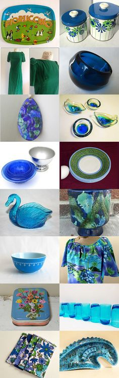 Blues And Greens With TeamKitsch. by livingavntglife on Etsy--Pinned with TreasuryPin.com