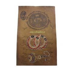 Jewellery on Paper - Online shopping INDIA - Buy Handicrafts,Gifts, Crafts, home decor, Decorative, Indian Handicrafts, Paintings, Wall decor Items