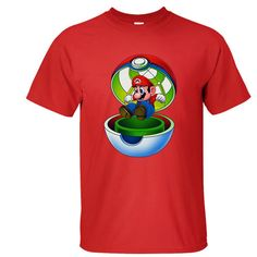 Mens 100% Cotton T Shirt Pokemon Go Mario 3d Printed Short Sleeve #HHD #GraphicTee