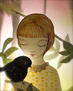 """""""A friend in the forest""""~ Paper Illustration c. Elly MacKay."""