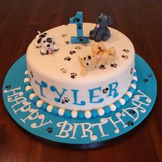 first birthday cakes | Naughty puppies 1st birthday cake | Flickr - Photo Sharing!