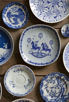 I really like blue and white dishes.
