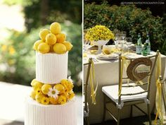Citrus fruits add fun colors and adorable ideas to a summer wedding!