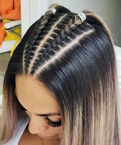 85 Box Braids Hairstyles for Black Women - Hairstyles Trends Frontal Hairstyles, Cool Braid Hairstyles, Easy Hairstyles For Long Hair, Baddie Hairstyles, Braids For Long Hair, Long Hair Cuts, School Hairstyles, Hairstyle Short, Prom Hairstyles
