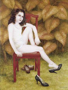 Figura: Niña, 1980. Acrílico sobre tela, 120 x 75 cm.
