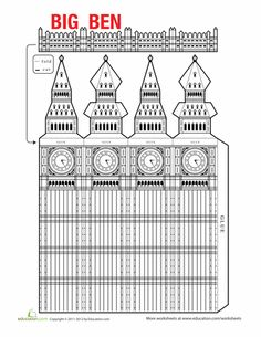Fourth Grade Paper Projects Worksheets: Big Ben Model Big Ben London, Big Ben Tattoo, School Projects, Projects For Kids, British Values, Little Passports, Big Ben Clock, Thinking Day, English Lessons