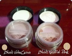 Journalism in Alma :::: Lumiere Cosmetics - Mineral Makeup: Violaceous, Neutral Pink Blushes