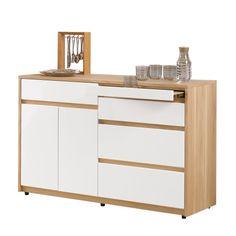 H&D 羅德4尺收納櫃高雅質感,讓餐廳添加亮麗質感 簡約、時尚、精緻而不沉悶 明亮配色、俐落極簡的造型 附隔板1片 專人送到府/簡易組裝