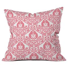 You'll love the Giraffe Damask Salmon Outdoor Throw Pillow at Wayfair - Great Deals on all Décor & Pillows products with Free Shipping on most stuff, even the big stuff.