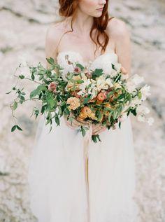 Floral shot - Santa Cruz organic bridal fashion inspiration with Sarah Seven gown by fine art photographer Taralynn Lawton