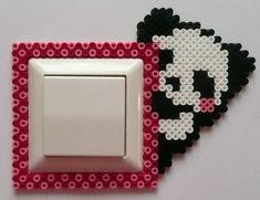 Little panda light switch border Ironing beads Perler Bead Disney, Perler Bead Templates, Diy Perler Beads, Perler Bead Art, Pearler Beads, Fuse Beads, Melty Bead Patterns, Hama Beads Patterns, Beading Patterns