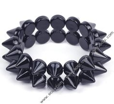 Eozy Fashion Black Two Rows Studs Spike Hedgehog Rivets Jewelry Stretch Elastic Bangle Bracelet Hot Cool Rock Punk Style Punk Jewelry, Jewelry Gifts, Fashion Jewelry, Bangle Bracelets, Bangles, Cool Rocks, Punk Fashion, Fashion Black, New Fashion Trends