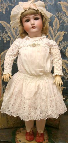 """Spectacular 34"""" Chunky Jutta Girl by Simon & Halbig for Cuno & Otto Dressel Antique Doll"""