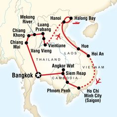 Indochina Encompassed in Asia - Lonely Planet   29 days (Bangkok to Bangkok)  Destinations visited: Asia, Vietnam, Thailand, Bangkok, Laos, Cambodia, World  Read more: http://www.lonelyplanet.com/asia/tours/wildlife-nature/indochina-encompassed#ixzz2g7ZAJOmb