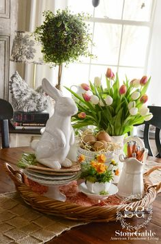 StoneGable: SPRING FARMHOUSE KITCHEN VIGNETTE