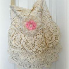 Beautiful Lace and crochet gypsy BOHO handbag