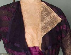 WORTH 2-piece Tea Gown, 1910-1914. Paris. Details? Click on image. (http://www.augusta-auction.com)
