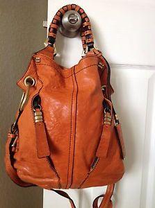 Oryany Gwen Vintage North South Crossbody Hobo Satchel Leather Handbag Orange Handbags Pinterest Bags And Purses