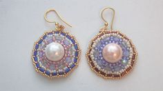 Beaded Earrings Tutorial: How to make the Wheel earrings (Brick Stitch) | Beading Tutorial