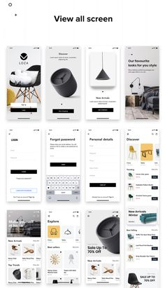 Buy LOZA - Furniture Shop UI Kit by hoangpts on ThemeForest. Built beautiful store in minutes Your time is unique. We know it and offer the UI kit that saves your time. Web Design, Layout Design, App Ui Design, Best App Design, Login Page Design, Android Ui, Android App Design, Web Mobile, Mobile App Ui
