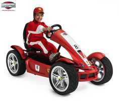 Ferrari pedal go-kart with on-board computer.