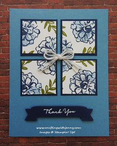 Sale-A-Bration goodness right here! I must say I love this color combination! I used Marina Mist, Night of Navy and Old Olive to create today's card. I designed this card for a recent Sale-A-Bratio...