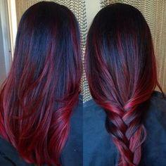 50 Stunning Dark Red Hair Color