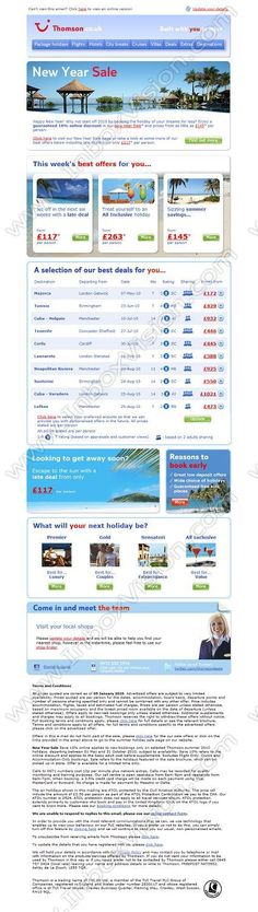 Company Thomson Holidays Subject Amazing Deals  Holidays From