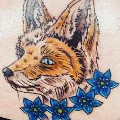 Ladies Fox Tatoo LCFC Leicester City Champions Design. By Ink design concepts Enderby Leicester.